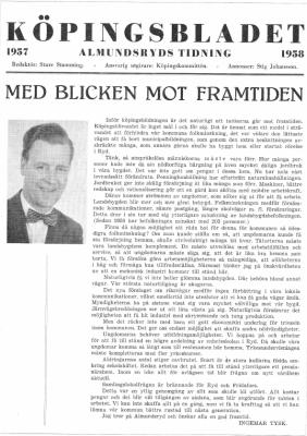 Köpingsbladet. Redaktör: Sture Stamming Grafik: Stig Johansson