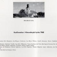 Konfirmation i almundsryds kyrka 1968